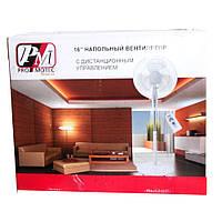 Напольный вентилятор с дистанционным управлением PRO MOTEC PM-1609 16''