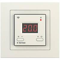 Wi-fi терморегулятор для теплого пола Terneo ax unic (слоновая кость)