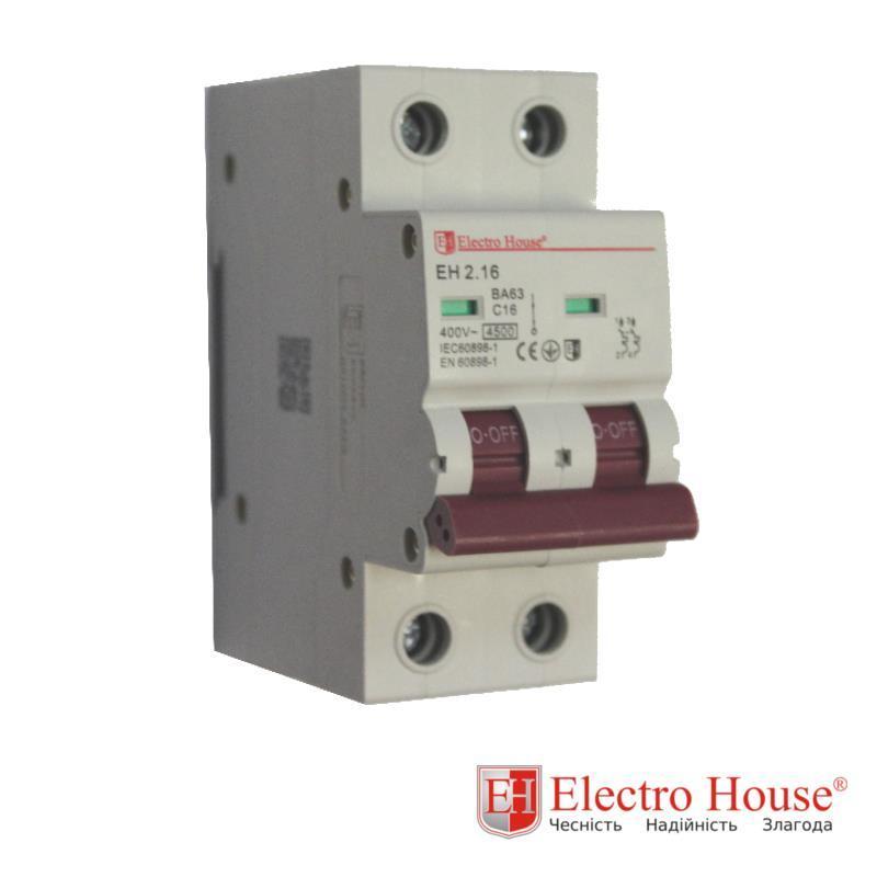 Автомат двухполюсный 16A Electro House