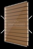 Сотовый поликарбонат 4мм TM SOLIDPLAST бронзовый