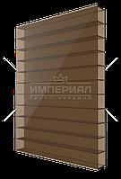 Сотовый поликарбонат 6мм TM SOLIDPLAST бронзовый