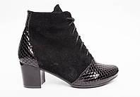 Ботинки  №436-2 черный замш + лак, фото 1