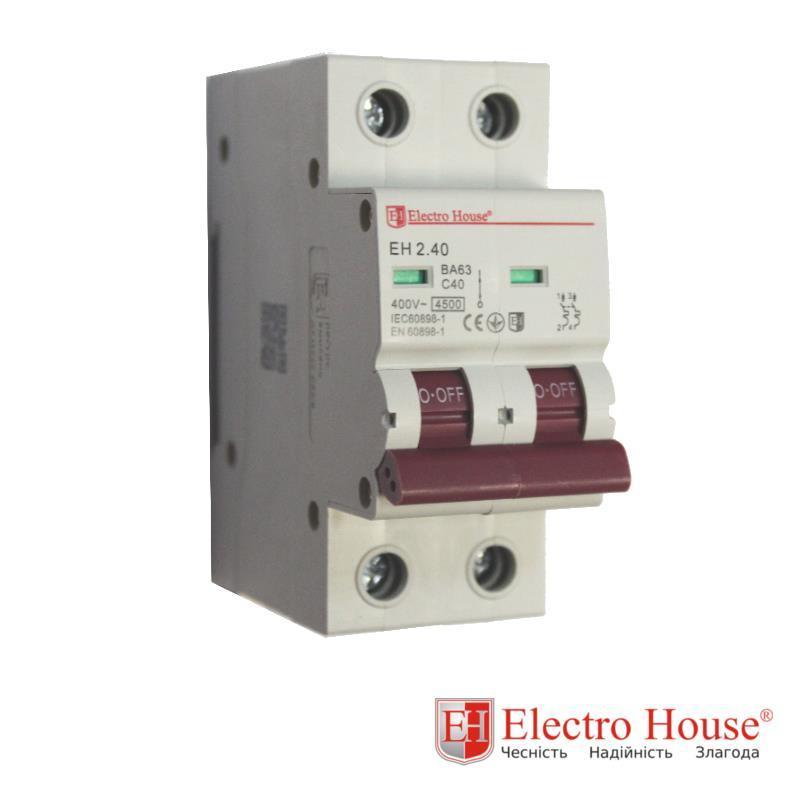Автомат двухполюсный 40A Electro House