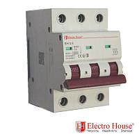Автоматический выключатель три полюса 6A, 4,5kA Electro House