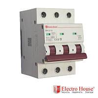 Автоматический выключатель три полюса 10A, 4,5kA Electro House