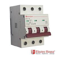 Автоматический выключатель три полюса 16A, 4,5kA Electro House