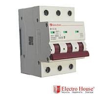 Автоматический выключатель три полюса 32A, 4.5kA Electro House