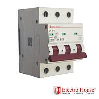 Автоматический выключатель три полюса 40A, 4.5kA Electro House