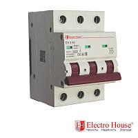 Автоматический выключатель три полюса 50A, 4.5kA Electro House
