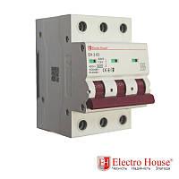 Автоматический выключатель три полюса 100A, 4.5kA Electro House