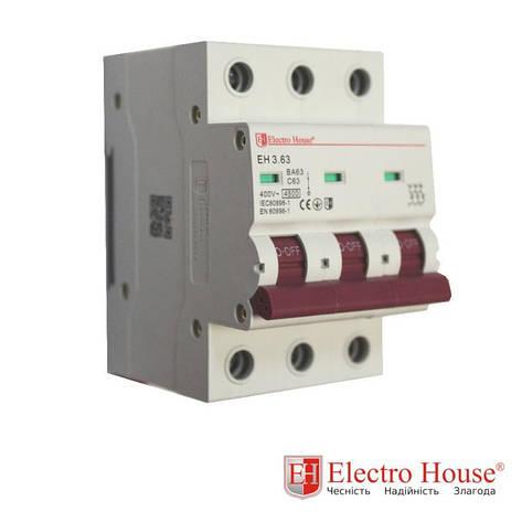 Автоматический выключатель три полюса 100A, 4.5kA Electro House, фото 2