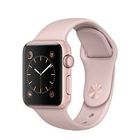Apple Watch Series 1 38mm Rose Gold Aluminum Case with Pink Sand Sport Band (MNNH2)