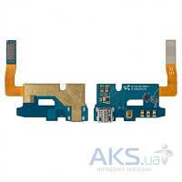 Шлейф для Samsung N7105 Note 2 коннектора зарядки, микрофона, с компонентами