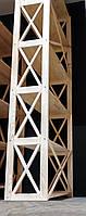 Этажерка деревянная Прованс на 6 полок (80х30х200 см)