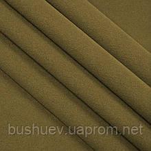Ткань пальтовая полушерстяная однотонная (6833) Хакки