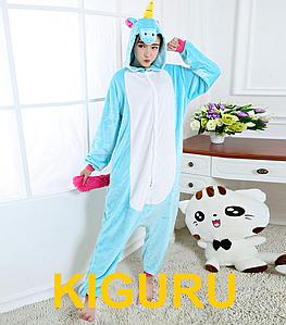 Голубой пони. Кигуруми пижама единорог