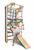 Детские шведские стенки «Sport 3-220» +турник+горка, фото 1