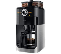 Philips HD7766/00 Grind & Brew Coffee maker, Black and Stainless Steel