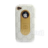 Nicephill Гламурный чехол для Apple iPhone 4 #Gucci white
