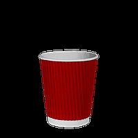 Стакан гофрированный 175мл.(20/40/1000) Красный