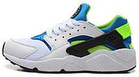 Мужские кроссовки Nike Air Huarache White/Blue/Green