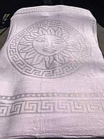 Великолепная махровая простынь Versace пудровая