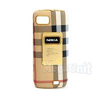 Nicephill Гламурный чехол для Nokia C3-01 #Burberry white