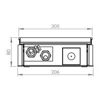 Конвектор внутрипольный с вентилятором FXX 80\205\900