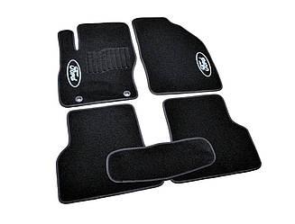 Коврики в салон ворсовые Ford Focus II (2004-2011) /Чёрные, кт. 5шт