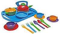 Игрушечная посуда Игровой Набор посуды  Юнная господарочка (048/8)