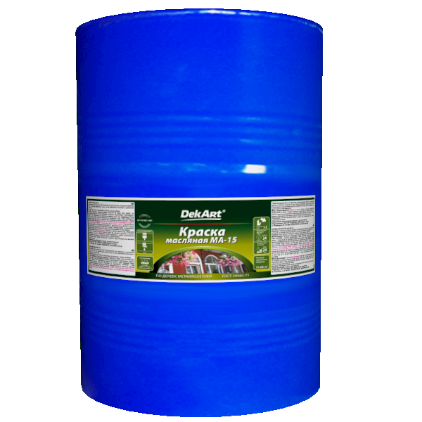 Фарба олійна DekArt МА-15, жовто-коричнева 60 кг