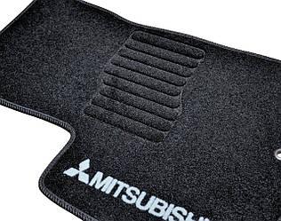 Текстильные коврики в салон Mitsubishi Outlander XL (2006-2009) /Чёрные, кт. 5шт