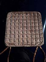 Качественная накидка-сидушка на стул в квадратик