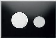Панель смыва ТЕСЕloop из черного стекла, клавиши глянцевые, фото 1