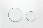 Панель смыва ТЕСЕloop пластиковая, клавиши белые, фото 1