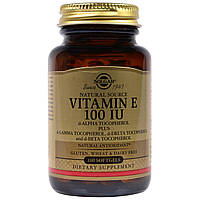 Solgar Natural Vitamin E 100 IU, 100 Softgels