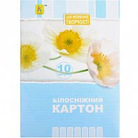 Белый картон А5 10 листов «Коленкор»