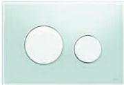 Панель смыва ТЕСЕloop из зеленого стекла, клавиши белые, фото 1