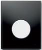 Панель смыва  для писсуара ТЕСЕloop из черного стекла, фото 1