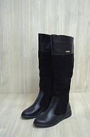 Женские кожаные сапоги евро-мех