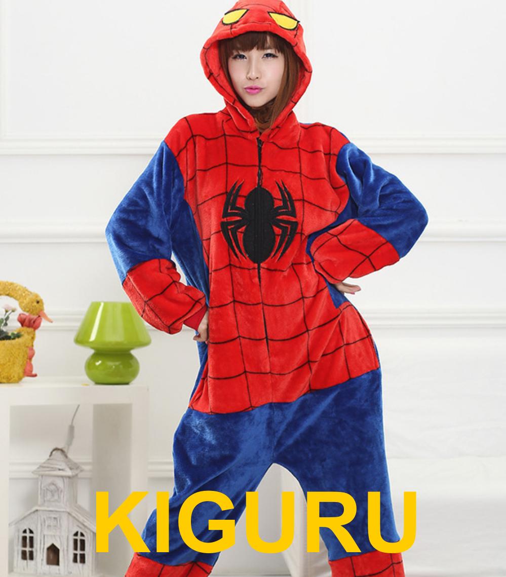 Костюм человек паук кигуруми пижама