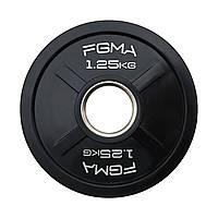 """Диск (блин) для штанги обрезиненный FGMA """"X"""" 1.25, фото 1"""