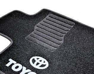 Ворсовые коврики для Toyota Camry (2014-) /Чёрные, кт. 5шт