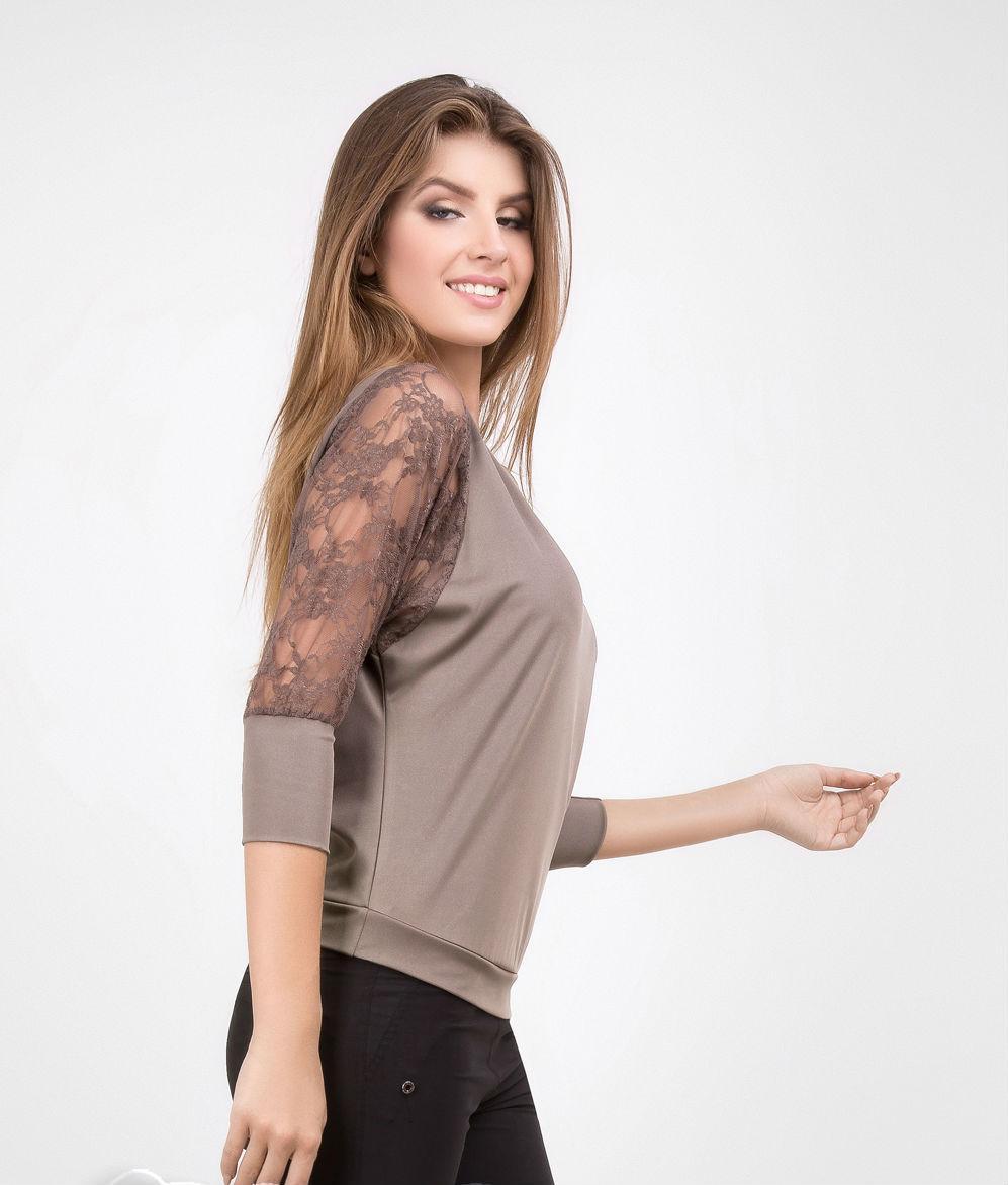 Комбинированная блузка