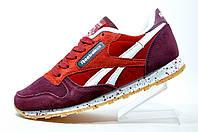Женские кроссовки Reebok Classic Leather LS, Бордо\Красный