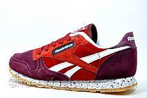 Женские кроссовки в стиле Reebok Classic Leather LS, Бордо\Красный, фото 3