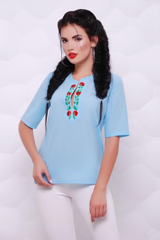 Женская блуза с вышивкой (4 цвета)