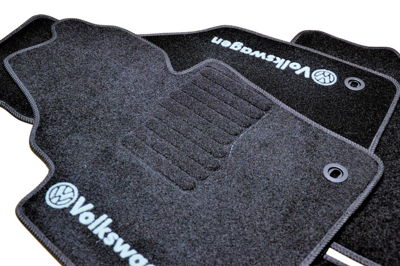 Ворсові килими в салон Volkswagen Caddy (2004-) /Чорні,кт. 5шт