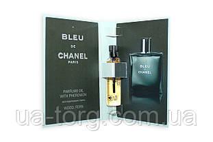 Масляный мини-парфюм с феромонами Chanel Bleu de Chanel (Шанель Блю дэ Шанель), 5 мл