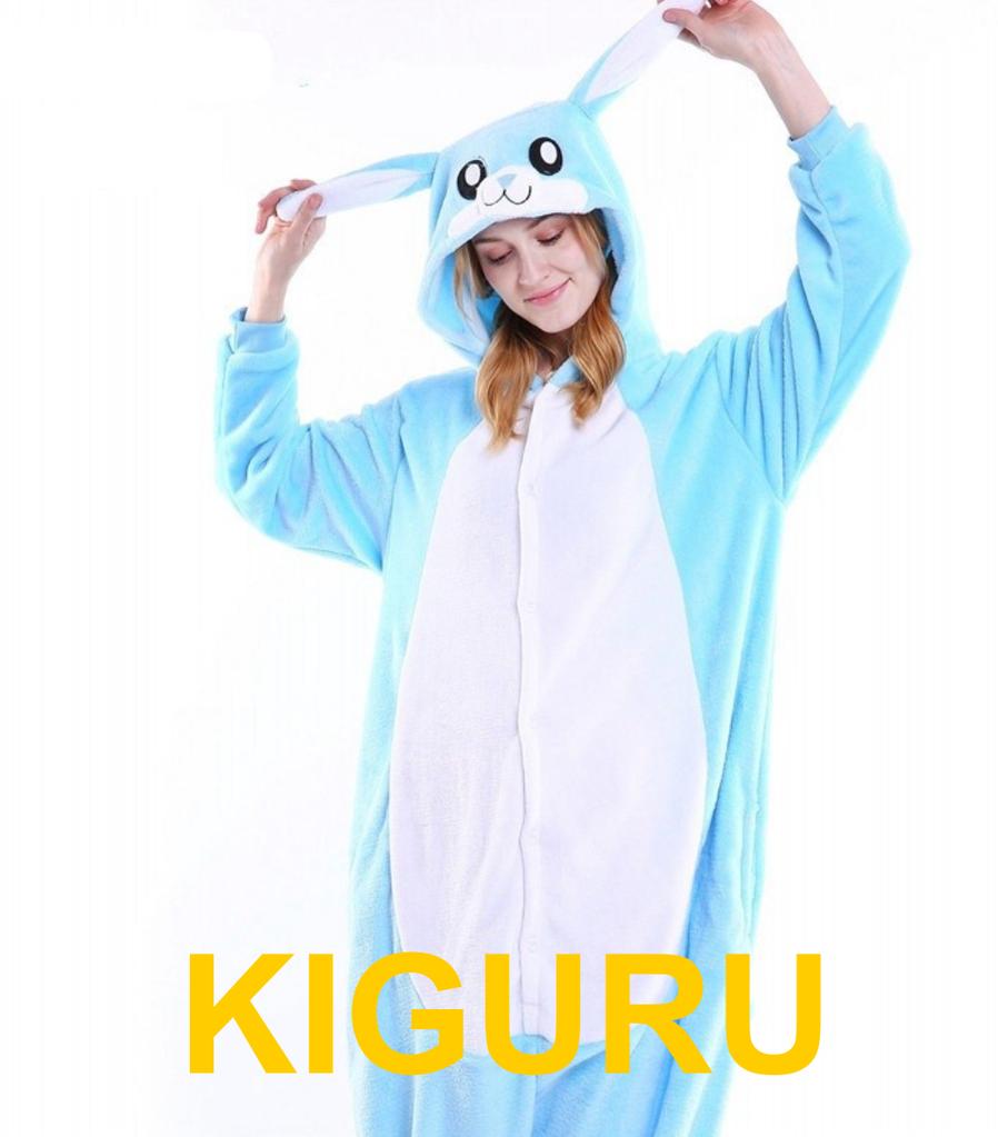 Кролик банни пижама кигуруми. Голубой